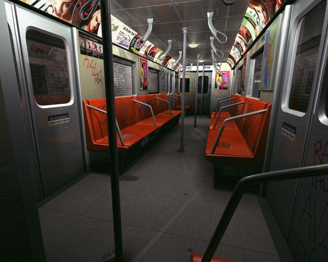 interior of subway car. Black Bedroom Furniture Sets. Home Design Ideas